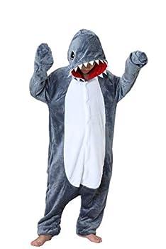 Jammies For Parties Animal Pajamas For Kids Unisex Cosplay Jumpsuit Sleepwear Costume  6-10 years Shark