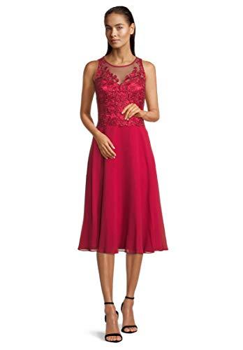 Vera Mont Vera Mont Damen 4095/4000 Kleid, Jewel Red, 46
