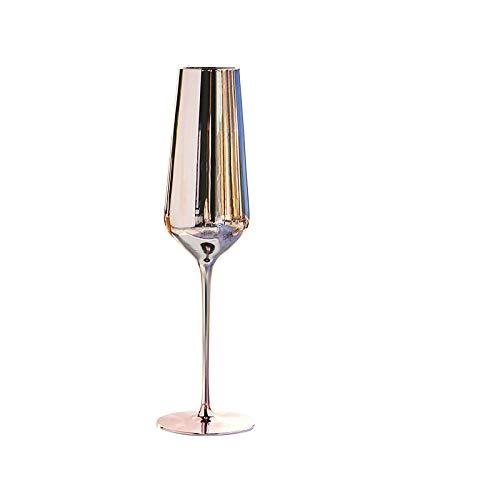 Copa De Vino De Cristal Para Galvanoplastia, Oro Rosa, Cáliz De Gran Capacidad, 2 Juegos, Christmas-380Ml