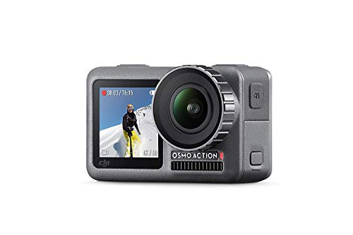 DJI Osmo Action Cam Camera Digitale con Doppio Display 11m Resistente all'Acqua 4K HDR-Video 12MP 145° Angolare Camera Nero