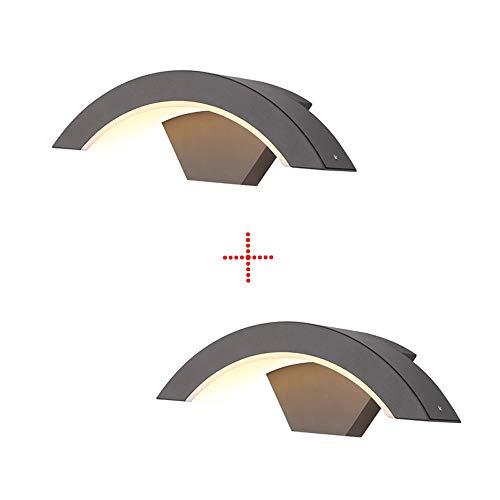 LED Curved IP65 wandlamp moderne waterdichte en stofdichte wandlampen verlichting eenvoudig gazon ophangen wandlampen persoonlijkheid aluminium buitenverlichting Villa Hof balkon gang gang gang gang