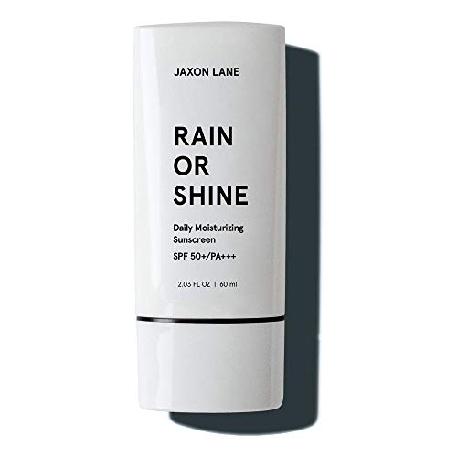 RAIN OR SHINE Anti Aging Face Sunscreen SPF 50 for Clear Skin w/ Green Tea, Hyaluronic Acid, Vitamin C, Vitamin E Oil, Ginseng Extract, Licorice Root – SPF Moisturizer for Face & Body Cream 2.03 Oz