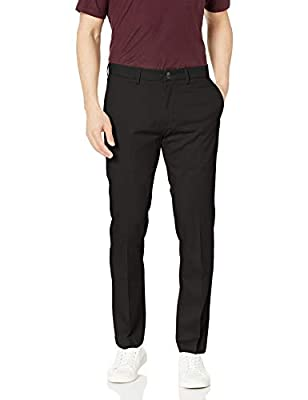 Haggar Men's Premium No Iron Khaki Slim Fit Flat Front Casual Pant