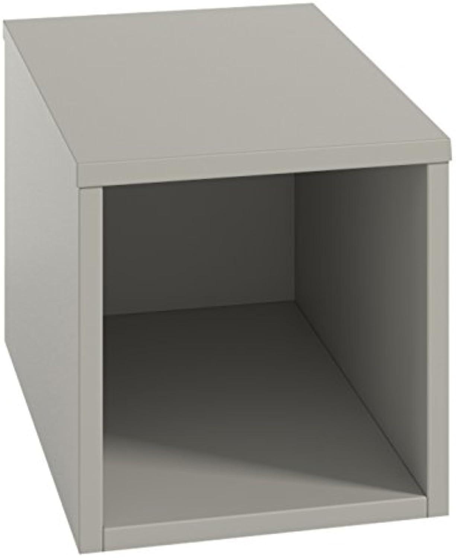 (30 x 30 x 30 cm, Grey) - LOWE Muebles Uno - Combinable Cube Cabinet 30 x 30 x 30 cm Grey