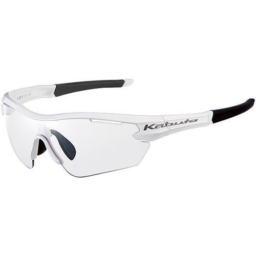 オージーケーカブト(OGK KABUTO) 自転車 スポーツサングラス/アイウエア 101PH (撥水クリア調光レンズ) ホワイト サイズ:M/L