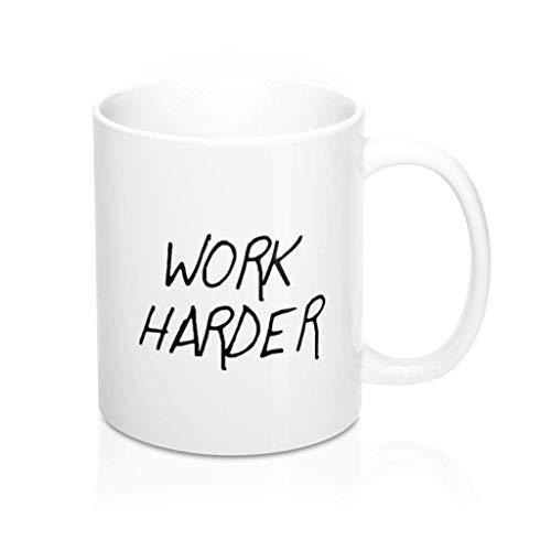 N\A Haga más Trabajo más difícil Haga más Taza Trabaje más difícil Taza Taza con Cita de Casey Neistat Taza de Youtuber Taza de diseñador Taza de Empresario