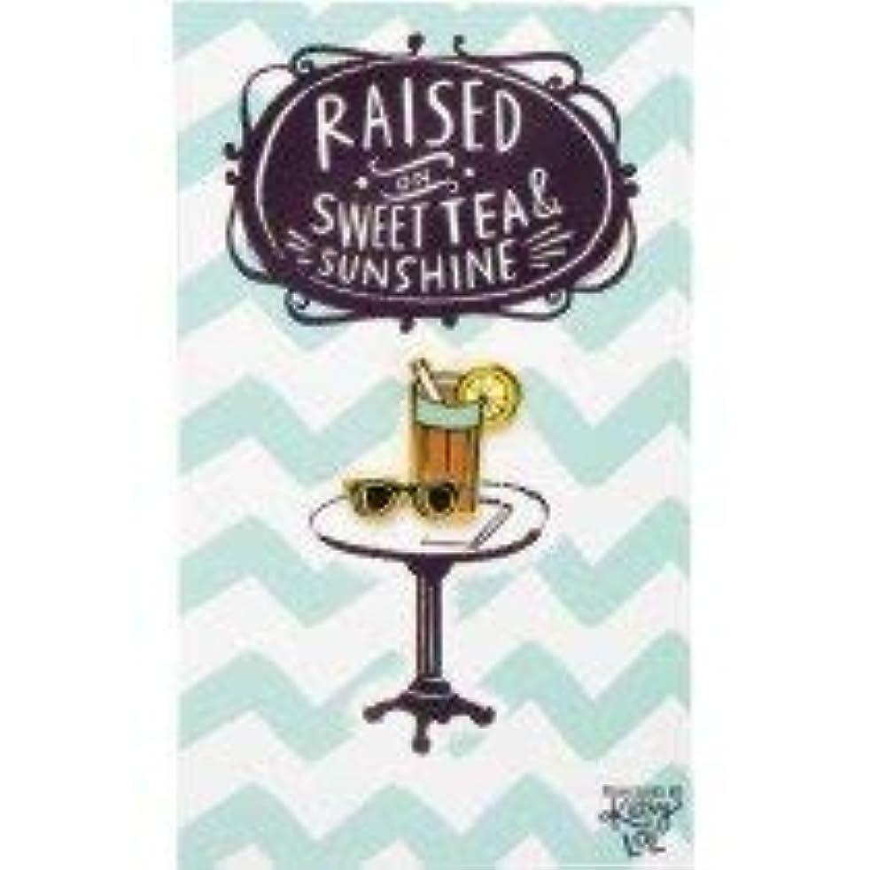 Primitives By Kathy Enamel Pin - Raised On Sweet Tea And Sunshine