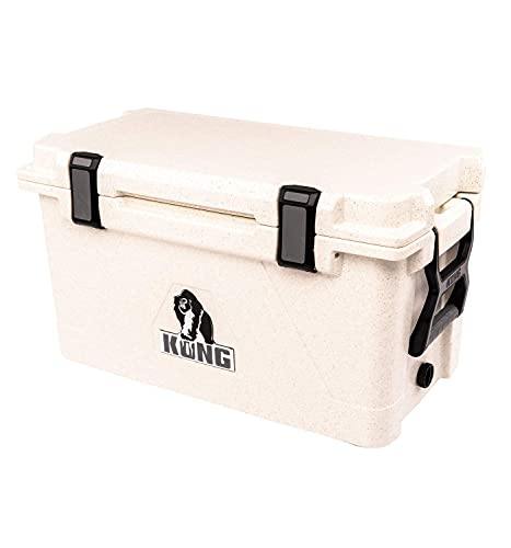 KONG Coolers | 50 Quart Rotomolded | Proudly Made in The USA | Durable, Safe, No-Slip Feet, Extended Ice Retention Cooler (Winter White)