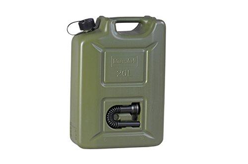 hünersdorff 802010 Kraftstoff-Kanister Profi 20L für Benzin, Diesel und Andere Gefahrgüter, Un-Zulassung, Made in Germany, TÜV-geprüfte Produktion, oliv