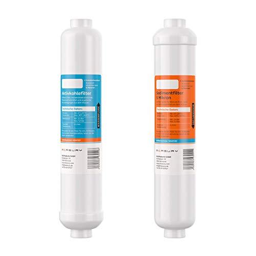 Measury Osmose Filter Set Sedimentfilter/Aktivkohlefilter, Osmoseanlage Filter Umkehrosmose Ersatzfilter