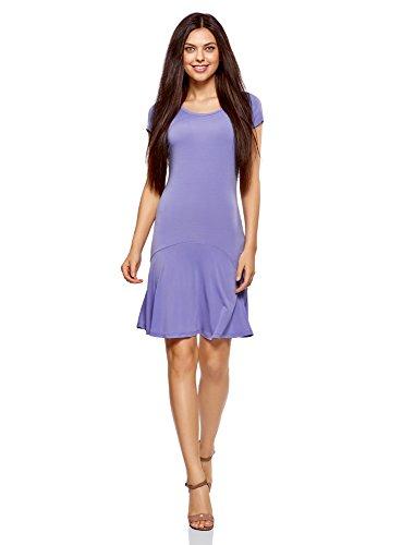 oodji Ultra Mujer Vestido de Punto con Volantes