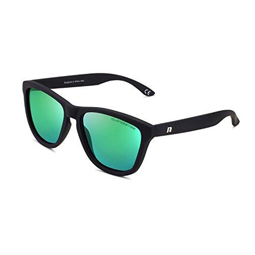 CLANDESTINE Model Matte Black Green - Gafas de Sol de Nylon HD de Hombre & Mujer