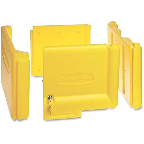 Rubbermaid Commercial 6181YEL Locking Cabinet, for Rubbermaid Commercial Cleaning Carts, Yellow