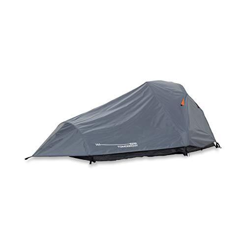 Lumaland Where Tomorrow 2-Personen-Kompakt-Zelt - Pop Up Wurfzelt Trekkingzelt - 245x160x95 cm - Camping Festival - Ultraleicht, wasserdicht, robust - Grau