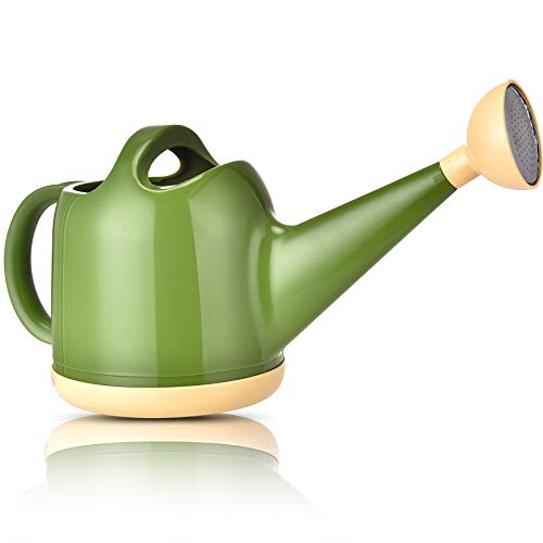 NOBONDO Watering Can 1 Gallon with Sprinkler Head, Plant Watering Can Long Stem Spout for House Indoor Plant Outdoor Flower Decorative Modern Garden Pot (4L, Green)