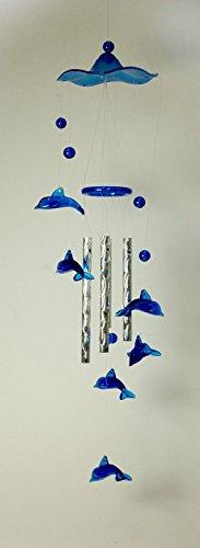 Blauwe Dolphin windspel, 38 cm lang