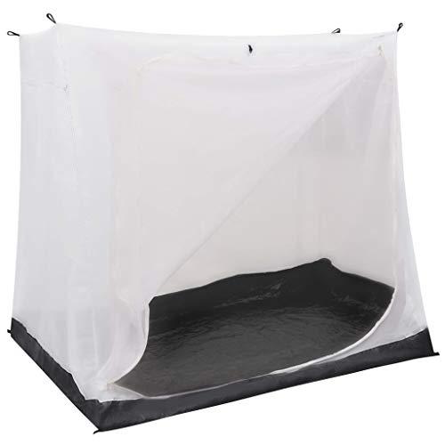 Festnight Universal Innenzelt für Campingwagen Camping Zelt Schlafzelt Schlafkabine Vorzelt Grau 200×180×175 cm