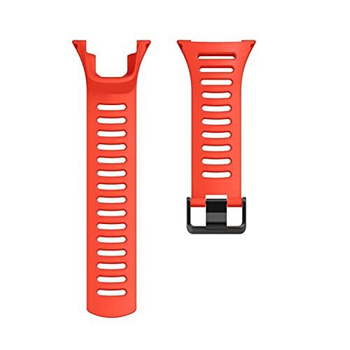 XXDA Correa de Silicona de 24 mm para Suunto Ambit Series 1/2/3 Reloj Banda 1/2 / 2S / 2R / 3P / 3S / 3R Banda de Reloj Deportiva (Band Color : Red)