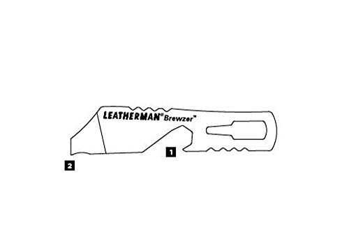 Product Image 1: LEATHERMAN, Brewzer Keychain Bottle Opener, Built in the USA, Stainless Steel