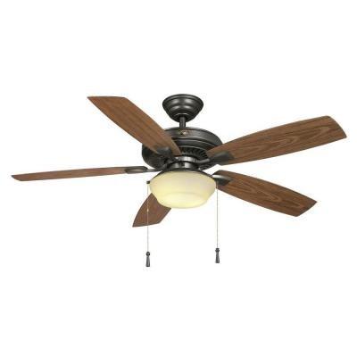 Hampton Bay Gazebo II YG188-NI 52' Easy to Assemble Natural Iron Indoor/outdoor Ceiling Fan by Hampton Bay