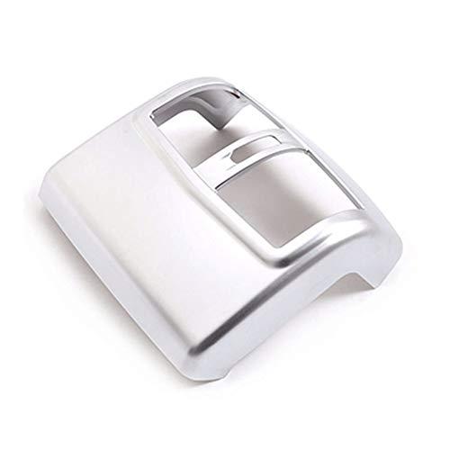 Wishful Coche de Plata ABS Trasera Condición de Salida del Aire de ventilación Ajuste de la Cubierta Etiqueta Accesorios en Forma for el Mercedes Benz Clase E W212 2012-2015 (Color Name : Silver)