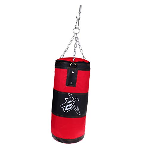 perfeclan Boxsack leer Sandsack Punching Bag mit Stahlkette Deckhaken - 70 cm