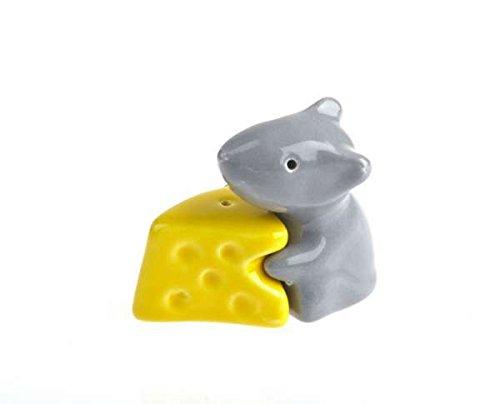 by-Bers.de Kindergeschirr, Die Maus mit Käse-grau-gelb die wohl süßesten Salzstreuer der Welt, die sehr besonderen Salz- und Pfefferstreuer