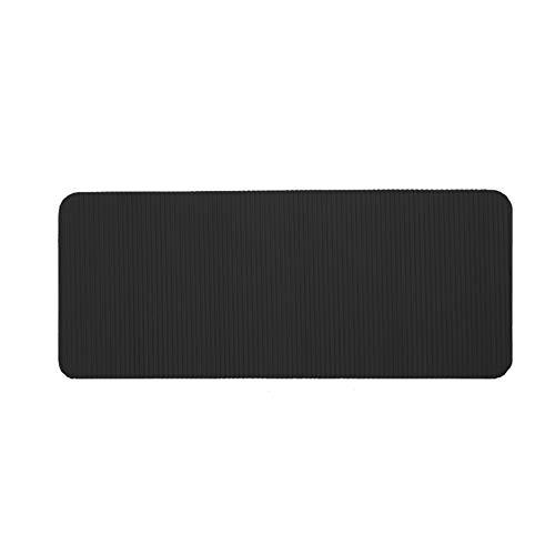 HUUATION Yoga Mat Skid Deportes Rayas de la Aptitud del Edificio de Cuerpo Grueso Comfort Foam Entrenamiento colchonetas de Gimnasia for el Ejercicio de Yoga y Pilates (Color : Black)