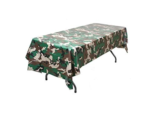 "Pack of 6 Camouflage Plastic Tablecover Camo Tablecloth - 54"" x 108"""