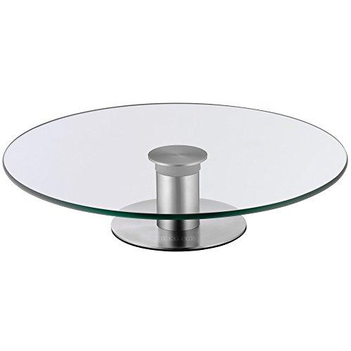 Kaiser Inspiration, 2in1 Dekorier- und Servier-Tortenplatte, Ø 30 cm, Schnitt- und Kratzfeste Glasplatte, Sicherheitsglas