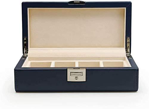 HUATINGRHPM Caja de Reloj, Caja de Almacenamiento Hecha de Caja de Relojes de Cuero PU, Royal Blue