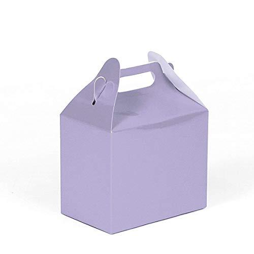 24CT (2 Dozen) Biodegradable Kraft/Craft Favor Treat Gable Boxes, Gift Boxes (Lavender, Small)