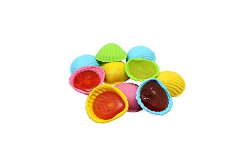 40 Stk. Schleckmuschel bunt einzeln verpackt Lutscher Lollies Candy Bar Leckmuscheln 400g