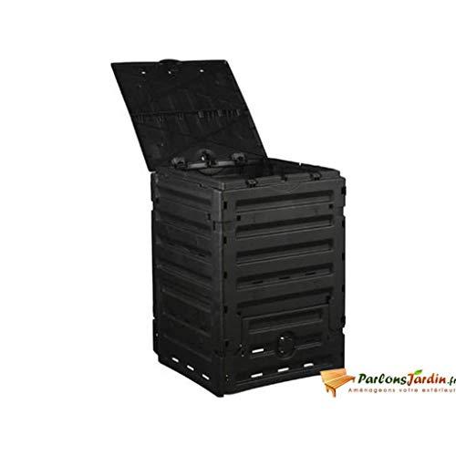 Nature Composteur en Plastique Noir 300L