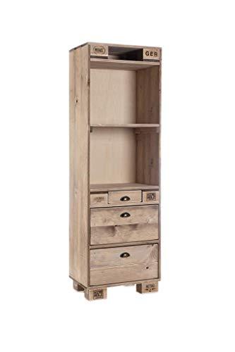 Palettenmöbel Kommode/Schrank in Palettenoptik Vintage gebeizt. Jedes Möbel ein Unikat und in Handarbeit in Deutschland hergestellt.