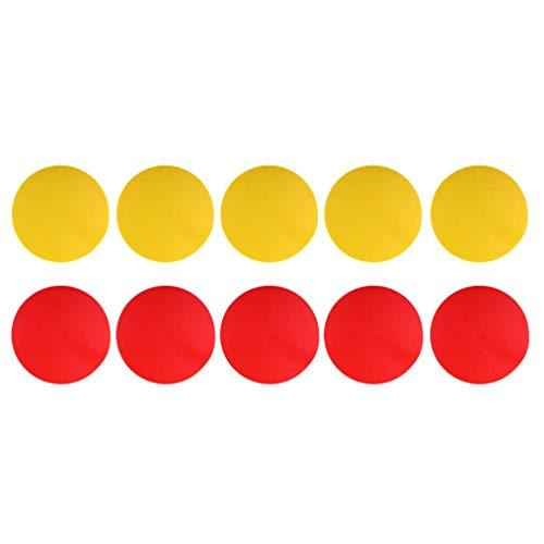 10PCS Marcadores de puntos deportivos antideslizantes hitos amarillos y rojos