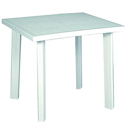 Home 9694325 Tavolo, Bianco, 80x74x72 cm