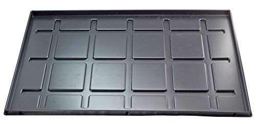 OKCS - Vassoio per scarpe, con bordo di 2 cm, impermeabile, resistente materiale PS riciclato, nero, 60 x 40 x 2 cm