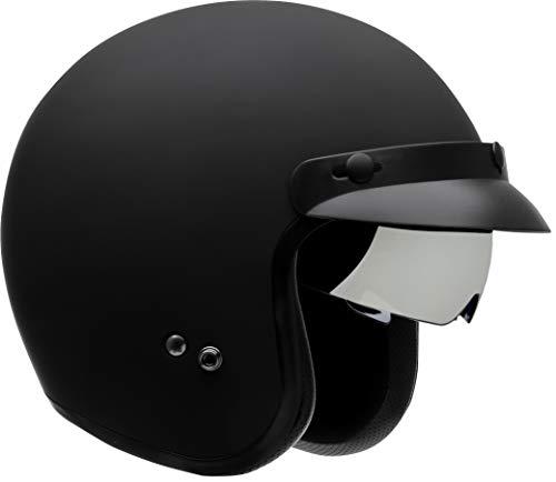 Vega Helmets X390 Retro Open Face Motorcycle Helmet w/Sunshield Unisex-Adult powersports (Matte Black, X-Large)