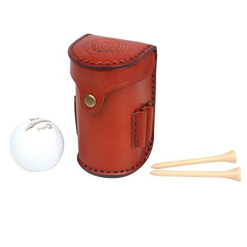 TOURBON Pelota de Golf y Camiseta para Llevar Cartera Bolsa de Cuero Genuino Accesorios Cinturón de sujeción