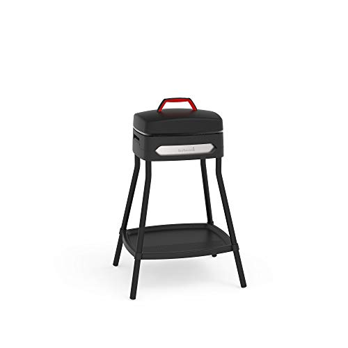 barbecook Elektrogrill zur Nutzung als Standgrill oder Tischgrill, elektrische Grillplatte mit Antihaftbeschichtung, BBQ Grill für In- und Outdoor, 2000W, schwarz, 59 x 49 x 97 cm
