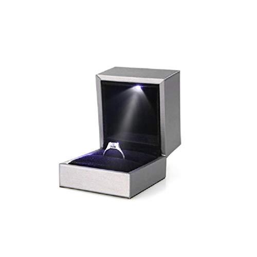Caja de almacenamiento con capucha y cierre de cremallera con luz LED
