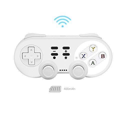 Gamepad Manette sans Fil Bluetooth Console de Jeux for Gamepad Vibration for Android/PC PS 3 Moblie poignée Jeu QPLNTCQ (Color : Blanc, Size : 1)