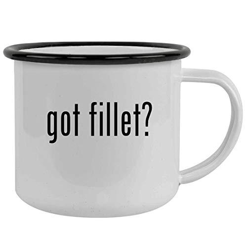 got fillet? - Sturdy 12oz Stainless Steel Camping Mug, Black