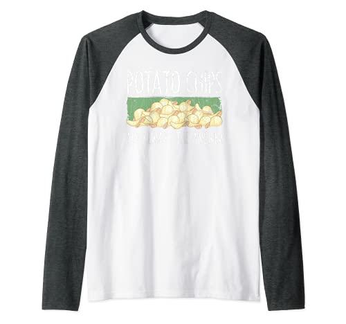 Papas fritas son siempre la respuesta divertido grfico de verduras Camiseta Manga Raglan