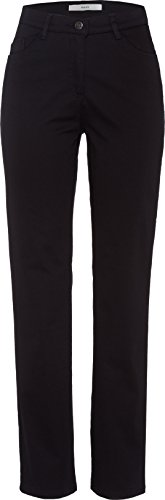 BRAX Damen Straight Leg Hose Carola Sport 78-1557, Schwarz (Perma Black 01), Gr. W32/L34  (Herstellergröße:42Lang)