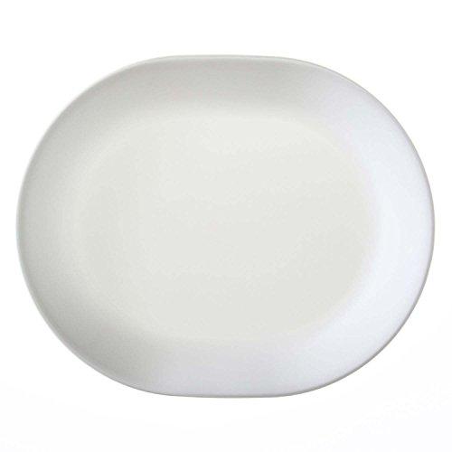 Corelle Vitrelle Glass Winter Frost White Serving Platter, Pack of 3