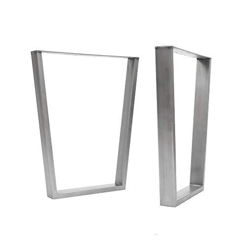 [HLC] 2 x patas industriales de mesa con marco en V: acero...