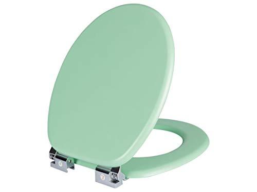 Sedile WC con abbassamento automatico con verniciatura in MDF antigraffio (Neomint)
