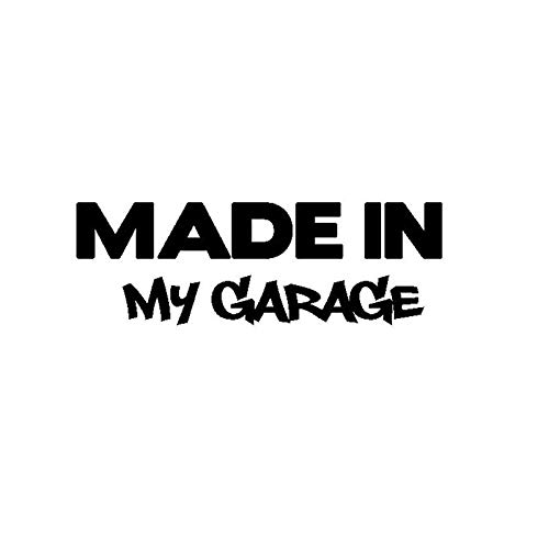 Car glass car sticker 17.8 * 5.9CM my garage car styling car stickers funny car stickers motorcycle body styling Cool Cover Black/Silver (Color Name : Black)